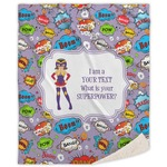 What is your Superpower Sherpa Throw Blanket (Personalized)