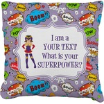 What is your Superpower Faux-Linen Throw Pillow (Personalized)
