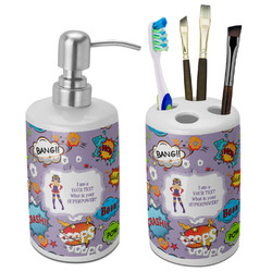 What is your Superpower Bathroom Accessories Set (Ceramic) (Personalized)