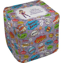 What is your Superpower Cube Pouf Ottoman (Personalized)
