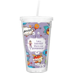 What is your Superpower Double Wall Tumbler with Straw (Personalized)