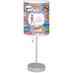 """What is your Superpower 7"""" Drum Lamp with Shade Linen (Personalized)"""
