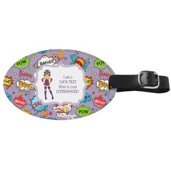 What is your Superpower Genuine Leather Oval Luggage Tag (Personalized)