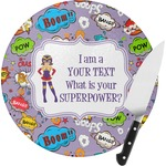 What is your Superpower Round Glass Cutting Board (Personalized)