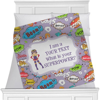 """What is your Superpower Fleece Blanket - Queen / King - 90""""x90"""" - Single Sided (Personalized)"""