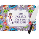 What is your Superpower Rectangular Glass Cutting Board (Personalized)