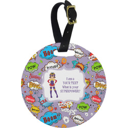 What is your Superpower Plastic Luggage Tag - Round (Personalized)