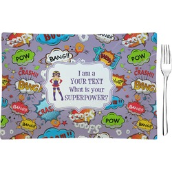 What is your Superpower Rectangular Glass Appetizer / Dessert Plate - Single or Set (Personalized)