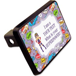 """What is your Superpower Rectangular Trailer Hitch Cover - 2"""" (Personalized)"""