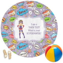 What is your Superpower Round Beach Towel (Personalized)