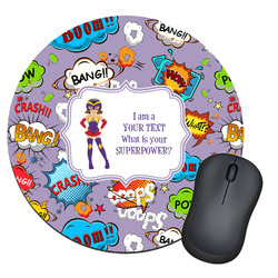 What is your Superpower Round Mouse Pad (Personalized)