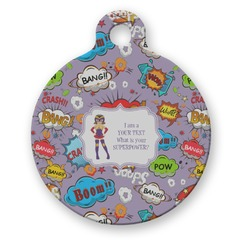 What is your Superpower Round Pet ID Tag (Personalized)