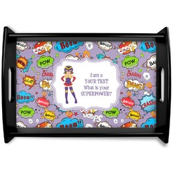 What is your Superpower Black Wooden Tray (Personalized)