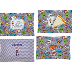 What is your Superpower Set of 4 Rectangular Appetizer / Dessert Plates (Personalized)