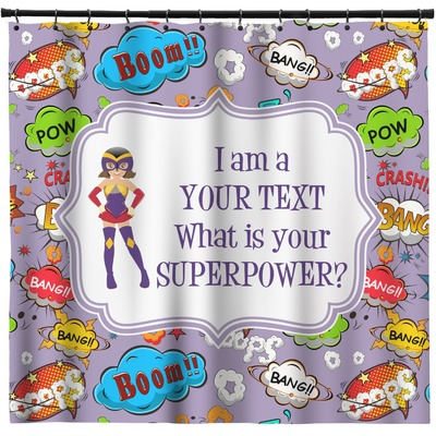 What is your Superpower Shower Curtain (Personalized)