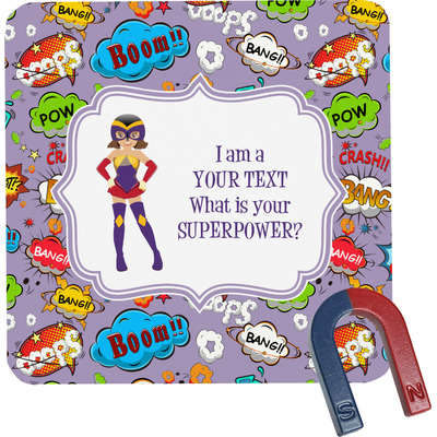 What is your Superpower Square Fridge Magnet (Personalized)