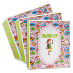 Woman Superhero 3-Ring Binder (Personalized)