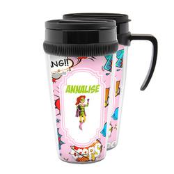 Woman Superhero Acrylic Travel Mugs (Personalized)