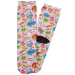Woman Superhero Adult Crew Socks (Personalized)