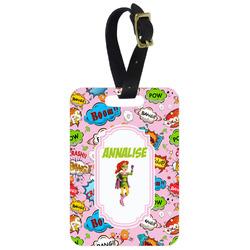 Woman Superhero Aluminum Luggage Tag (Personalized)