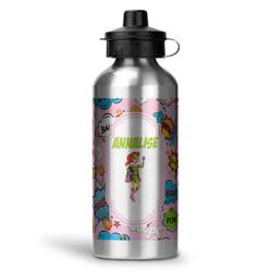 Woman Superhero Water Bottle - Aluminum - 20 oz (Personalized)