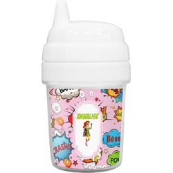 Woman Superhero Baby Sippy Cup (Personalized)