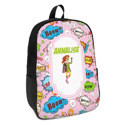 Woman Superhero Kids Backpack (Personalized)
