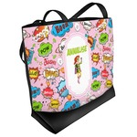 Woman Superhero Beach Tote Bag (Personalized)