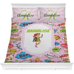 Woman Superhero Comforter Set (Personalized)