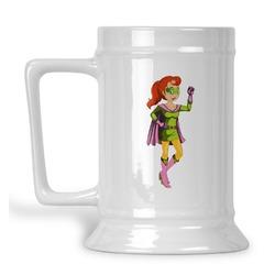 Woman Superhero Beer Stein (Personalized)