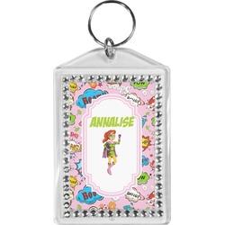 Woman Superhero Bling Keychain (Personalized)