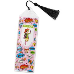 Woman Superhero Book Mark w/Tassel (Personalized)