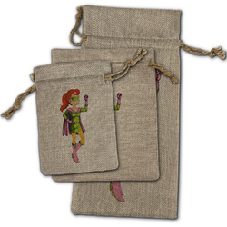 Woman Superhero Burlap Gift Bags (Personalized)