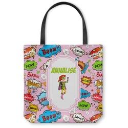 Woman Superhero Canvas Tote Bag (Personalized)