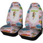 Woman Superhero Car Seat Covers (Set of Two) (Personalized)