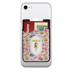 Woman Superhero Cell Phone Credit Card Holder (Personalized)