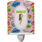 Woman Superhero Ceramic Night Light (Personalized)