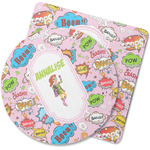 Woman Superhero Rubber Backed Coaster (Personalized)