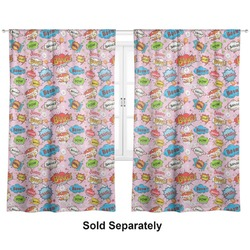 "Woman Superhero Curtains - 20""x63"" Panels - Unlined (2 Panels Per Set) (Personalized)"