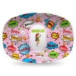 Woman Superhero Plastic Platter - Microwave & Oven Safe Composite Polymer (Personalized)