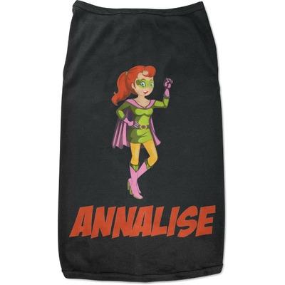 Woman Superhero Black Pet Shirt (Personalized)