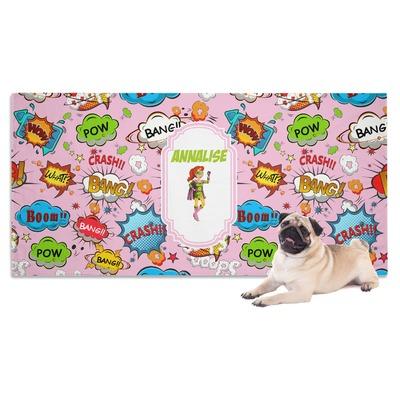 Woman Superhero Dog Towel (Personalized)