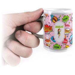 Woman Superhero Espresso Mug - 3 oz (Personalized)