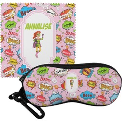 Woman Superhero Eyeglass Case & Cloth (Personalized)