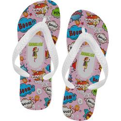 Woman Superhero Flip Flops (Personalized)