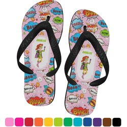 Woman Superhero Flip Flops (Personalized)