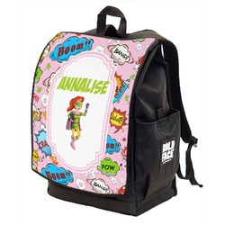 Woman Superhero Backpack w/ Front Flap  (Personalized)