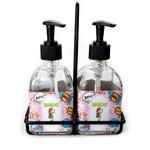Woman Superhero Soap & Lotion Dispenser Set (Glass) (Personalized)