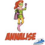 Woman Superhero Graphic Iron On Transfer (Personalized)