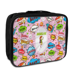 Woman Superhero Insulated Lunch Bag (Personalized)